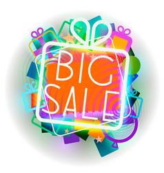 big sale colorful emblem vector image