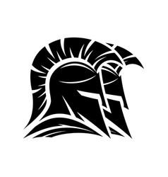 black spartan helmets vector image