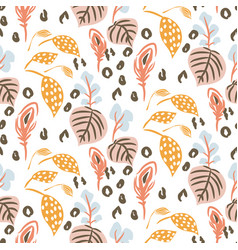 Botanical garden seamless pattern vector