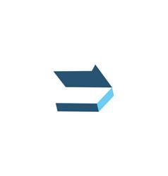 box open logo design template vector image
