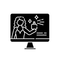Brand ambassador black glyph icon vector