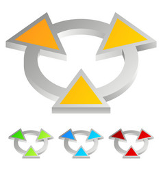 bright abstract emblem - arrowheads pointing to vector image