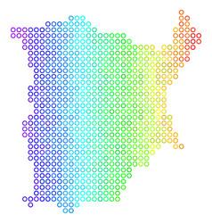 Bright cirle dot koh samui map vector