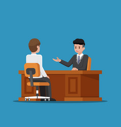 business executive talking with employee vector image