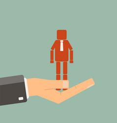 Businessman choosing a worker recruitment agency vector