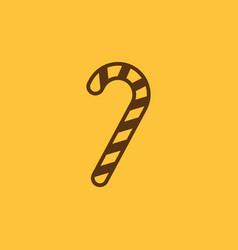 Candy cane icon new year and xmas christmas vector