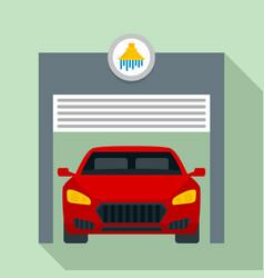 car wash garage icon flat style vector image