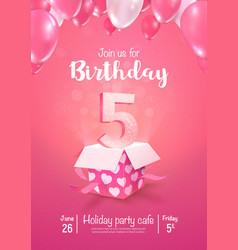 Celebrating 5 years birthday 3d vector