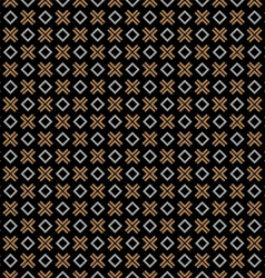 Checkered black seamless pattern with cross and vector