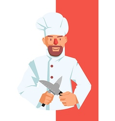 Chef with Knives vector