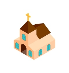 Church isometric 3d icon vector image