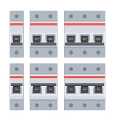 Circuit Breakers Set on White Background vector