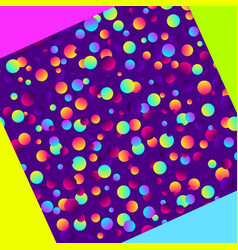 colorful gradient balls on purple background vector image