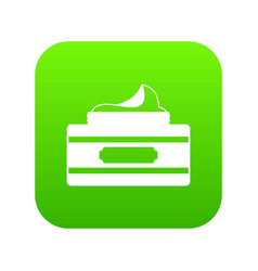 cream container icon digital green vector image