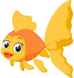Cute goldfish cartoon vector