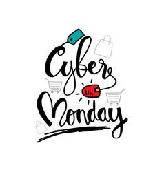 cyber monday discount sale concept online shopp vector image