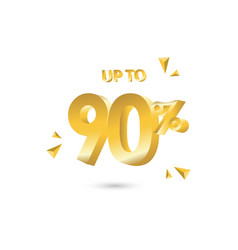 discount up to 90 template design vector image