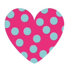 dotted heart in love decoration romantic vector image