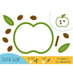 education paper game for children apple vector image