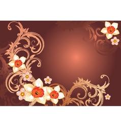 elegant floral backgorund vector image