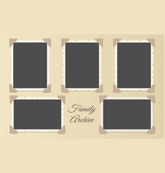 Family photo album collage vector