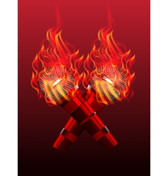 fire microphone vector image