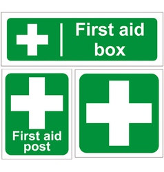 First aid signs vector