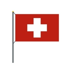 Flag of Switzerland icon flat style vector image