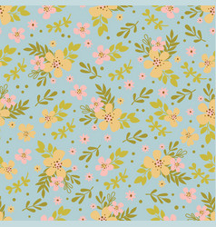 floral dress hand drawn seamless pattern vector image