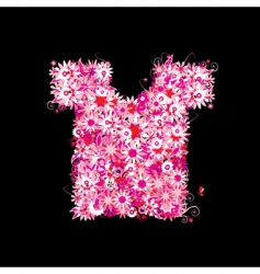 floral t-shirt vector image