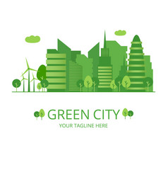 green city infographic ecology vector image