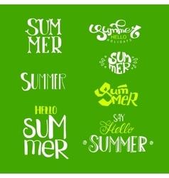Hello Summer Lettering set vector