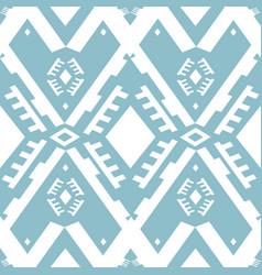 Ikat ornament tribal pattern vector
