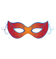 Isolated carnival mask vector