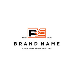 Letter pe flash electric logo design vector