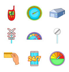 Limitation icons set cartoon style vector