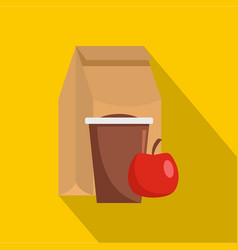 Lunch package icon flat style vector
