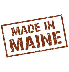Made in maine stamp vector