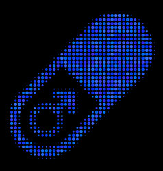 male power pill halftone icon vector image
