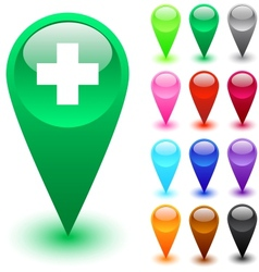 medical button vector image vector image