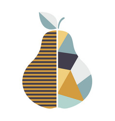 modern geometric pear modern fruit poster good vector image