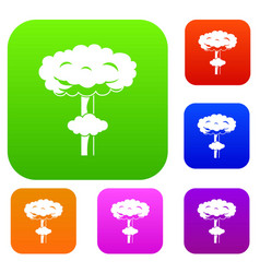 Nuclear explosion set collection vector