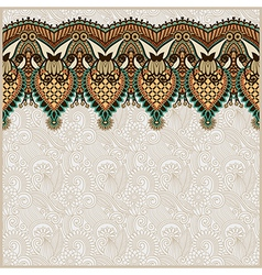 Ornamental seamless stripe decorative element vector