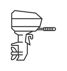Outboard boat motor linear icon vector