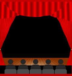 People in the theater vector