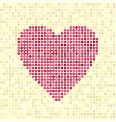 pixel art dot heart vector image