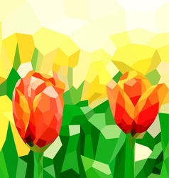 Poly tulip vector image