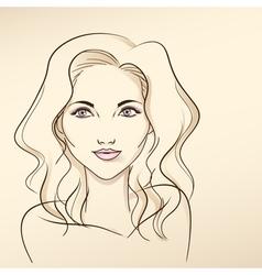 Portrait of woman in pastel tones3 vector image