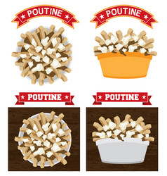 poutine canadian food vector image