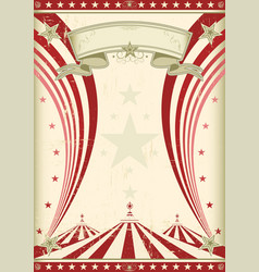 rainbow red circus vintage vector image